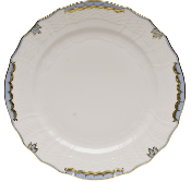 Herend Princess Victoria Dinner Plate, Light Blue