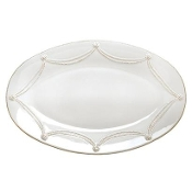 Juliska Berry and Thread Large Oval Platter, White