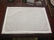 Hemstitch Placemats, White