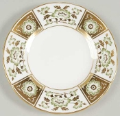 Royal Crown Derby Derby Panel Green Bread and Butter Plate