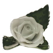 Herend White Rose Place Card Holder