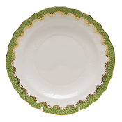Herend Fish Scale Dessert Plate Green