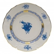 Herend Chinese Bouquet Bread and Butter Blue