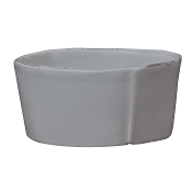 Vietri Lastra Medium Serving Bowl, Gray