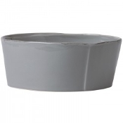 Vietri Lastra Large Serve Bowl Gray