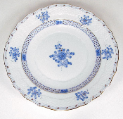 Herend Blue Garden Salad Plate