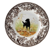 Spode Woodland Dinner Plate, Black Lab