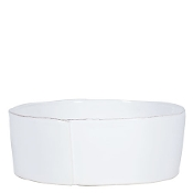 Vietri Lastra Large Serving Bowl, White