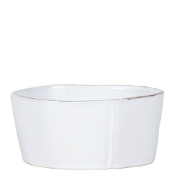 Vietri Lastra Medium Serving Bowl, White