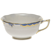 Herend Princess Victoria Tea Cup and Saucer, Blue