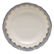 Herend Fish Scale Dessert Plate, Light Blue