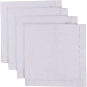 Hemstitch Napkins, White