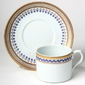 Mottahedeh Chinoise Blue Cup & Saucer