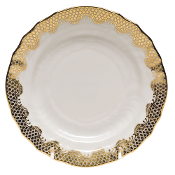 Herend Fish Scale Bread and Butter, Gold