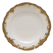 Herend Fish Scale Salad Plate, Brown