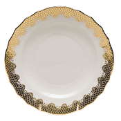 Herend Fish Scale Dessert Plate Gold