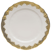 Herend Fish Scale Service Plate Gold