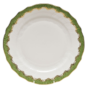Herend Fish Scale Dinner Plate Green