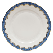 Herend Fish Scale Dinner, Blue