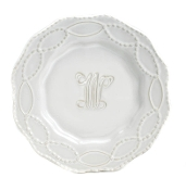 Skyros Legado Salad Plate with Monogram