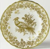 Royal Crown Derby Gold Aves Holiday Accent Plate