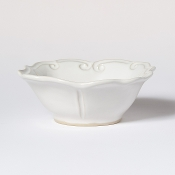 Vietri Incanto Stone Baroque Cereal Bowl White