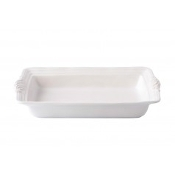 "Juliska Acanthus 16"" Rectangle Baker, Whitewash"