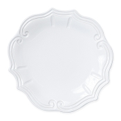 Vietri Incanto Stone Baroque Dinner Plate White