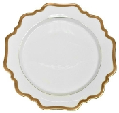 Anna Weatherly Antique White with Gold Dinner Plate
