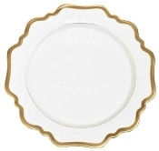 Anna Weatherly Antique White with Gold Bread and Butter