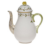 Herend Rothschild Garden Coffee Pot with Rose
